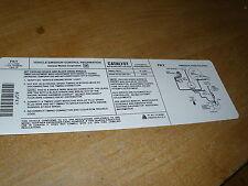 1990 CHEVROLET IMPALA CAPRICE 5.7 5.7L ENGINE EMISSIONS DECAL STICKER