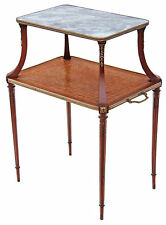 Antique kingwood walnut marble etagere side occasional table whatnot