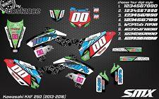 Kawasaki KXF 250 2013-2016 graphics kit motocross decals stickers KX250F vinyl