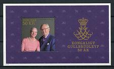 Faroes Faroe Isl 2017 Mnh Golden Wedding Queen Margrethe Ii 1v Ms Royalty Stamps
