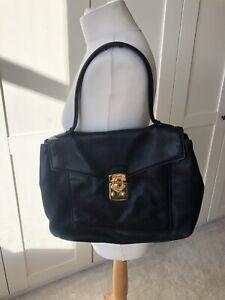 Miu Miu Black   Soft Leather Large Tote Single-Strap    Bag / Handbag .