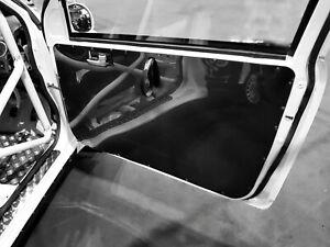 2x FORD FIESTA Mk6 Lightweight Gloss Black ABS Door Card Panels * Race Track Car