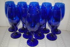 Cobalt Blue Stemmed Wine Glasses NEW
