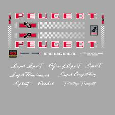 Peugeot PX10, PY10 Bicycle Stickers - Decals - Transfers - n.0357
