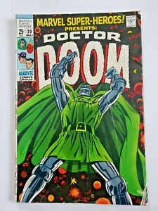 Marvel Super-Heroes #20 Doctor Doom First Solo Story May 1969  Mid Grade