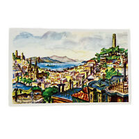 San Francisco California Panorama Marin County Hills Coit Tower Vintage Postcard