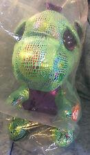 Ty 37099 Cinder Glitter Eye Dragon Green 42 Cm Glub Sliding Beanie Boo S