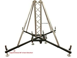 Ground Support Wheels w/Leveling Jacks Fits F34 Trussing Vertical Truss Base