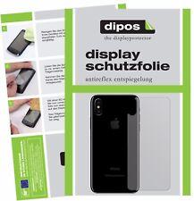 2x Apple iPhone X / 10 trasero Protector de Pantalla protectores mate dipos