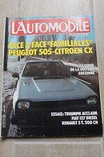 L'automobile N°429 Renault 5 Turbo.Triumph Acclaim.Cx Reflex D Familiale