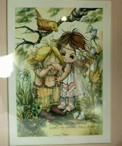 "Jody Bergsma 1981 ""You Pick Up My Pieces"" Print 2029/7500 Framed 10X12"""