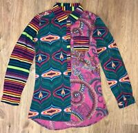 Desigual rare girls colored shirt blouse size 11-12 Years (fit even XS-S)