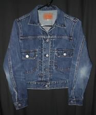 Vtg Women's Trucker Jean Jacket Guess Pleat Front 2nd Edition Style Small