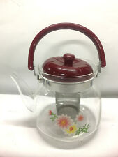 New 1800ml Tea Coffee Pot Heat Resistan Glass Teapot Cooking Pot Direct Heating