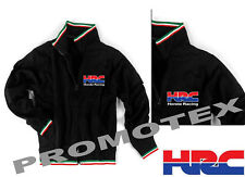 FELPA TRICOLORE HONDA CORSE LOGO stampato RACING ITALIA NERO team HRC