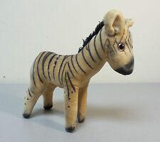 Adorable Vintage 1960's Felt Zebra Figure