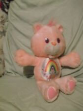 "13""Pink Cheer Care Bear  1991 Kenner with fabric label"