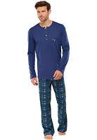 Schiesser Hombres Pijama Largo 100% Algodón Talla 48-110 Tamaños de S-LXL Nuevo