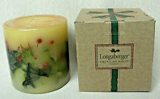 Longaberger American Holly Bayberry Pine Candle - New