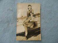WWII US Marine Captured Japanese Pin Up Card Western Dress WW2
