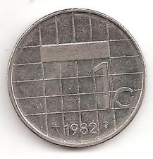 1982 The Netherlands 1 G Coin Dutch Holland Gulden