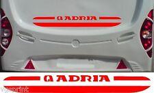 ADRIA CARAVANE CAMPING CAR 2 PIÈCES - ENSEMBLE AUTOCOLLANTS - CHOIX DE COULEURS
