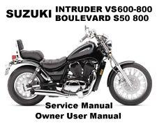 SUZUKI INTRUDER VS 750 800 BOULEVARD S50 Service Workshop Repair Manual PDF CDR