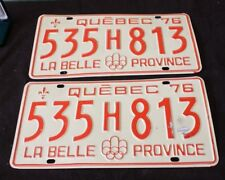 License Plate Canada Quebec  Olympic 1976 LA BELLE PROVINCE 535H813