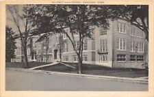 Danielson Connecticut~Killingly High School~1944 Sepia Litho Postcard