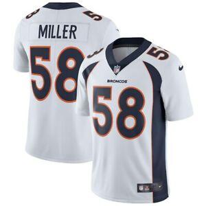 Von Miller #58 Denver Broncos Men's White Away Game Jersey