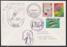 """Antarctic,""""CHILE"""",1991, 2 Cachets+Signature,Base MARSH,look Scan !! 8.7-17"""