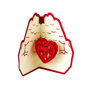Loving Heart Popup Pop Up Greeting 3D Card Gift Birthday Thanksgiving Wedding