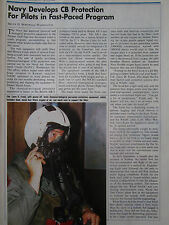 1/91 ARTICLE + 1 PAGE US NAVY NADC PILOT MASK OXYGEN HELMET CB CHEMICAL WARFARE