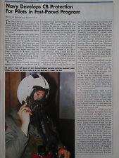 1/91 ARTICLE + 1 PAGE US NAVY NADC PILOT MASK OXYGEN HELMET CB CHEMICAL WARFARE