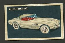 BMW 507 Vintage 1950s Car Collector Card from Sweden