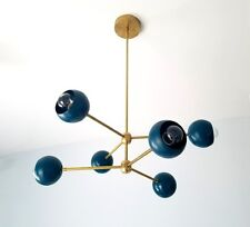 6-light mid century modern style chandelier