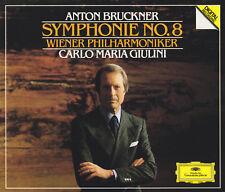 ANTON BRUCKNER: SYMPHONIE No. 8 Sinfonie CARLO MARIA GIULINI 2 CDs, sehr gut