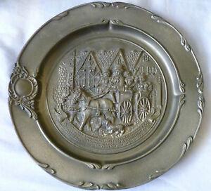 Vintage SKS Design Pewter Plate Rein 95% Zinn