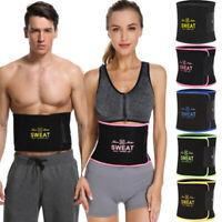 Sweat Premium Waist Trimmer Belt Wrap Tummy Stomach For Weight Loss Fat Burner