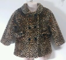 Beluga New York Baby Girl Toddlers 2t Fully Lined Faux Fur Leopard Print Coat