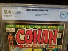 Conan the Barbarian #17 NM 9.4 💎 1972 Gil Kane CBCS Key Kull Red Sonja CGC