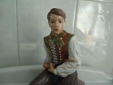 Dahl Jensen Copenhagen  Amager Boy Seated Porcelain With Pipe 1300 EC