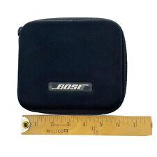 "Bose Headphone Case Black w/Zipper Square Pocket 6x6""  VGUC  Dr4"