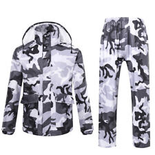 Mens Womens Outdoor Waterproof Biking Fishing Raincoat Rain Jacket + Pants Suit