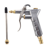 Silver Tone Duster Cleaning Tool Nozzle Air Blow Gun W8Y5