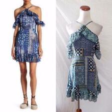 a21b7a188d9 NEW ROMEO   JULIET Couture FESTIVAL Chiffon RUFFLE Cold SHOULDER Halter DRESS  S