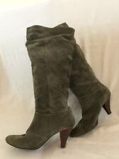 New Look Grey Knee High Suede Boots Size 6