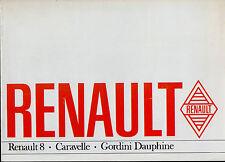 Renault Dauphine Gordini R8 Caravelle 1965-66 UK Market Sales Brochure