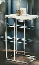 New Elegant Norsk White High Gloss Quality Sofa End Table