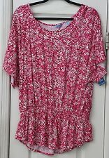 Women's XL white, red, and pink top by IZOD NWT Valentines day!